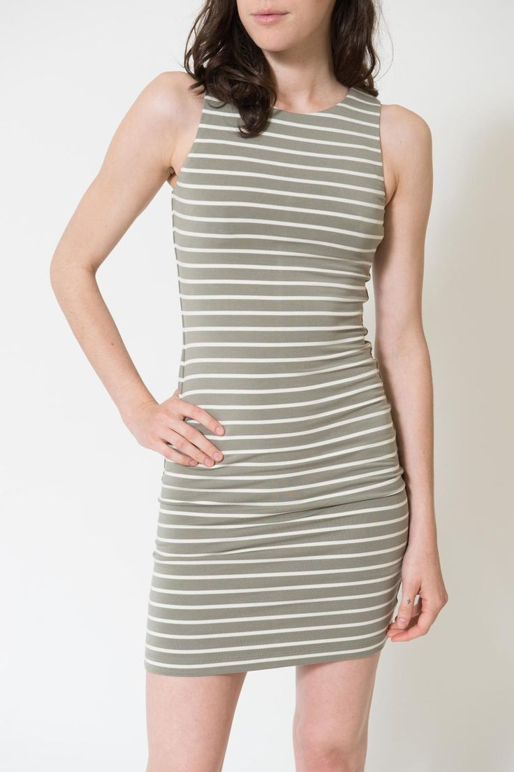 This olive and ivory stripe dress is ideal for any special occasion you have coming up! Wear it with heels for a wedding, shower, etc. or with boots and a jean jacket for a day with the girls!   Lindy Dress by Tart Clothing. Clothing - Dresses - Mini Louisiana