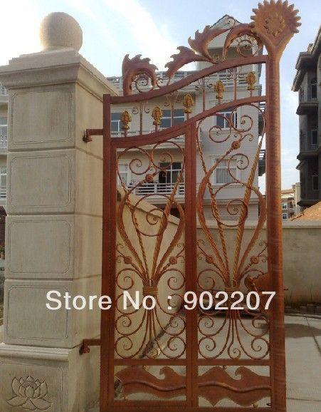 Двери из кованого железа ворота, железные ворота безопасности, ворота, кованые двери entrance-003 железная дверь