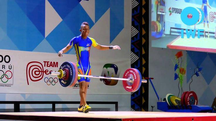 José David Mosquera, campeón mundial sub-17 de Levantamiento de Pesas, en arranque, envión y total en 62 kilogramos,en el 2015.