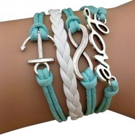 9th&Elm - wrap bracelets-- love the anchor and the figure 8