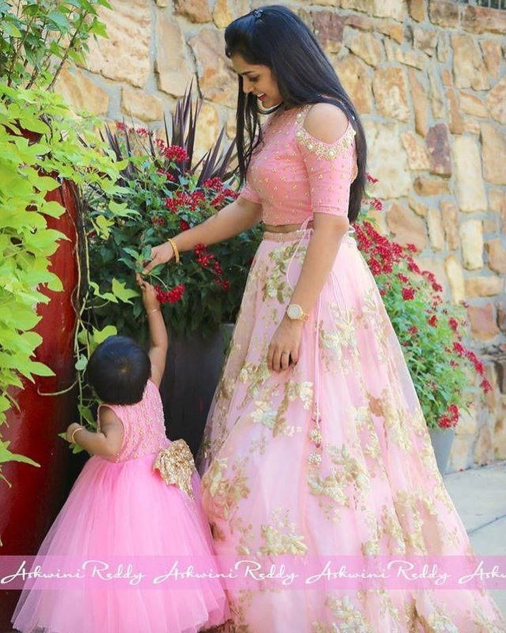 adorable momanddaughter in our label ashwinireddy arbaby blushpink babypink powderpink coldcut crotop skirt tutu frock golden bow 08 December 2016