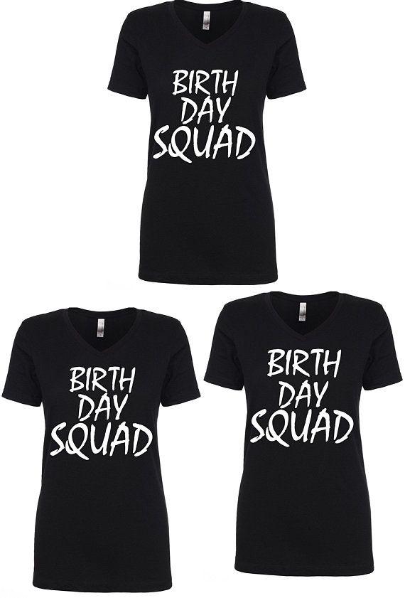 Set Of 5 Birthday Shirts