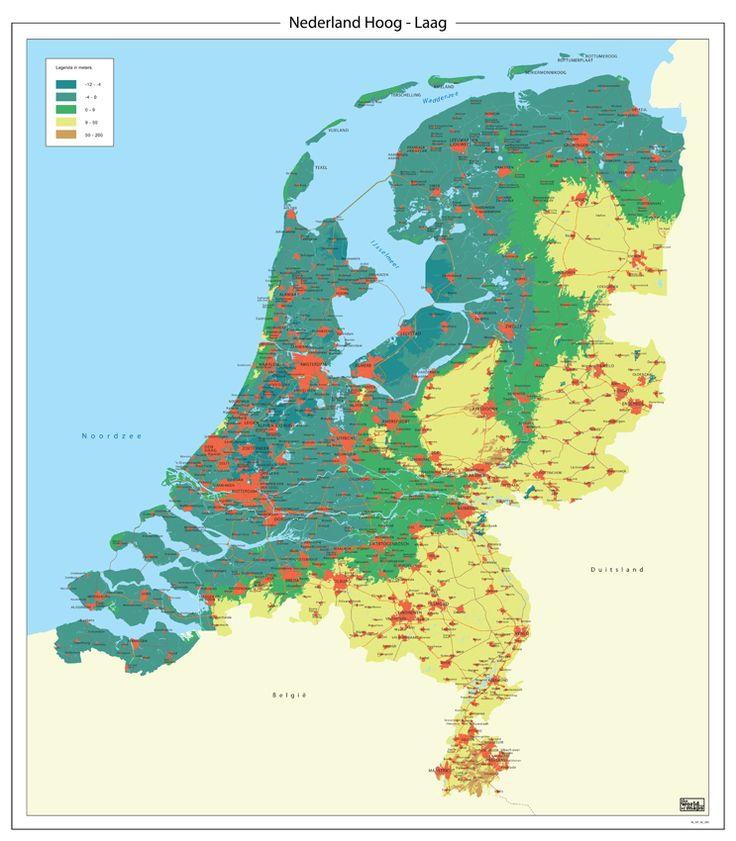 hoog en laag nederland kaart - Google zoeken