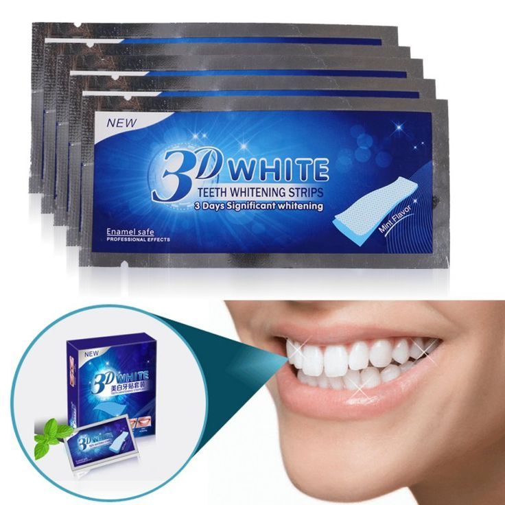 Avanzada 3D Blanco tiras de Blanqueamiento de Dientes Ultra Whitening 14 Pares Profesional Teeth Whitening Strips