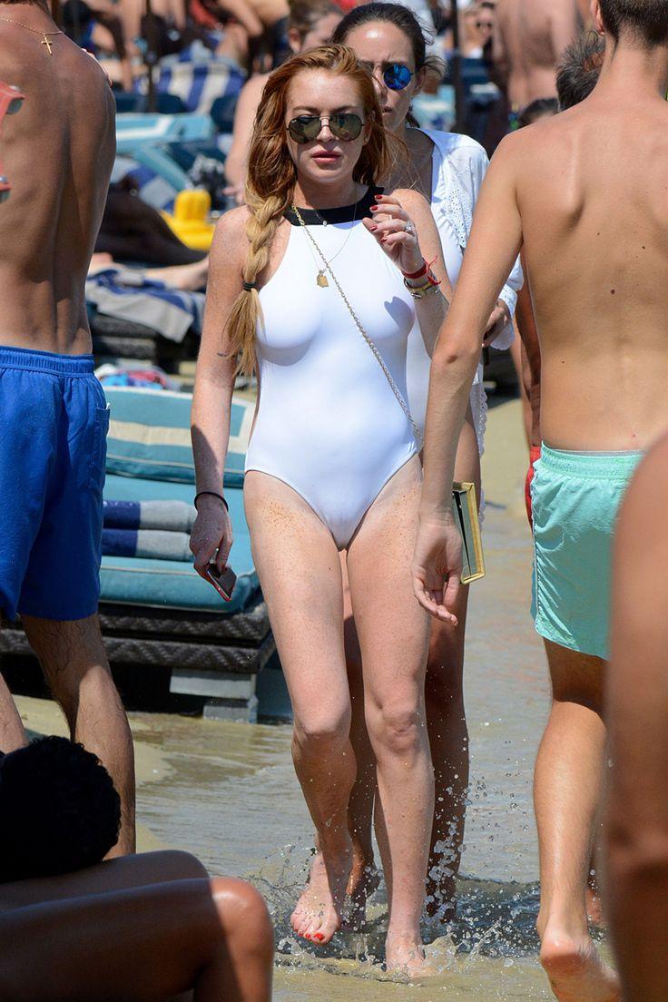 Lindsay lohan at a nude beach