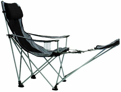 High Quality Heavy Duty Nylon Reinforced Folding Camping Chair With Footrest
