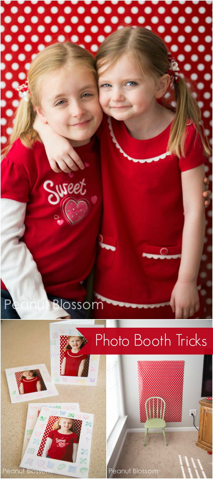Capturing sweethearts: adorable photo booth and handmade card idea to work on with the kids for Valentine's Day!