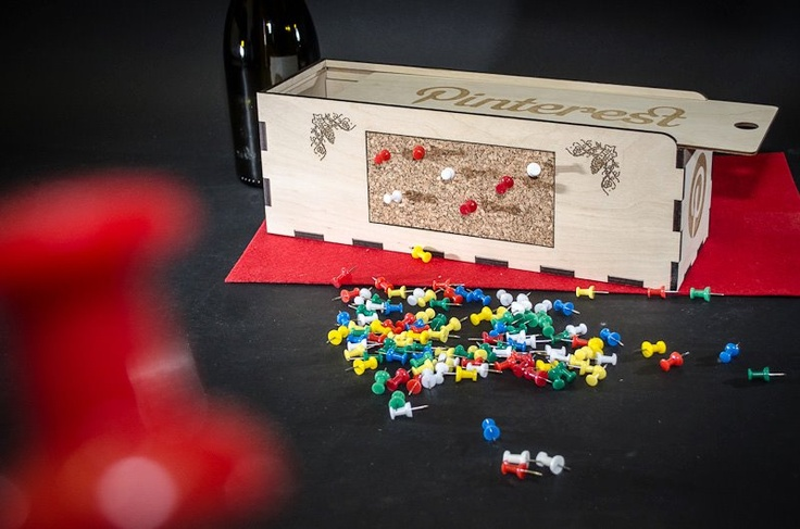 Box it and Pin it, from $45, including personalization, the ideal #wine gift for the hard-to-buy for