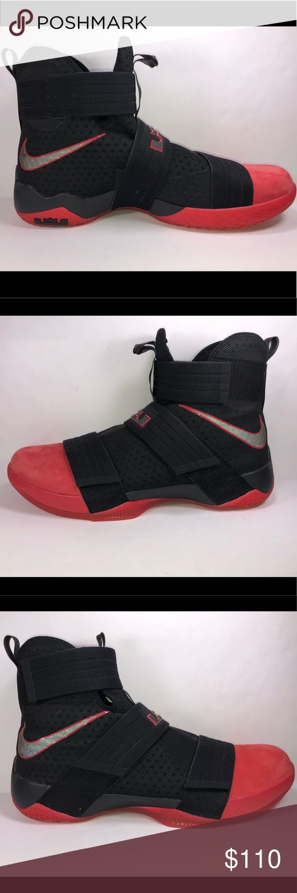 Nike Lebron Soldiers X Ohio State Red & Black sz16 Excellent Like New Condition Never Been Worn New Without Box See Pictures For Details. S499 Nike Shoes Sneakers