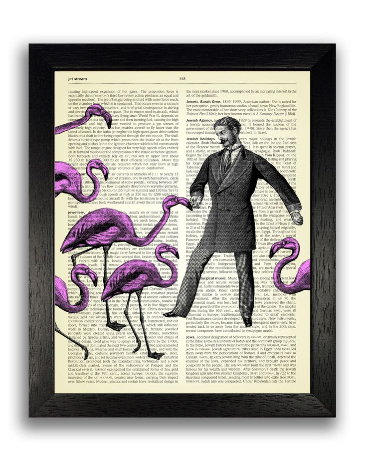 FLAMINGO ATTACK Art Print on Dictionary Page, Victorian Wall Decor, Pink Flamingo Bedroom Decal, New Home Gift, Master Bedroom Decoration by TopLondonPrints on Etsy https://www.etsy.com/listing/185001022/flamingo-attack-art-print-on-dictionary