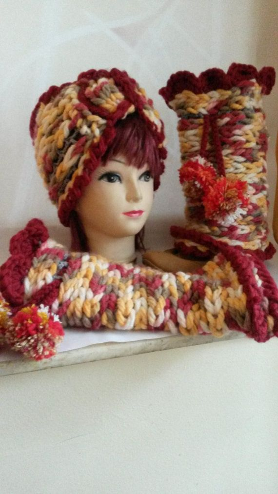 Hand crocheted SET Headband & Leg by AnnesMagicCrochet on Etsy