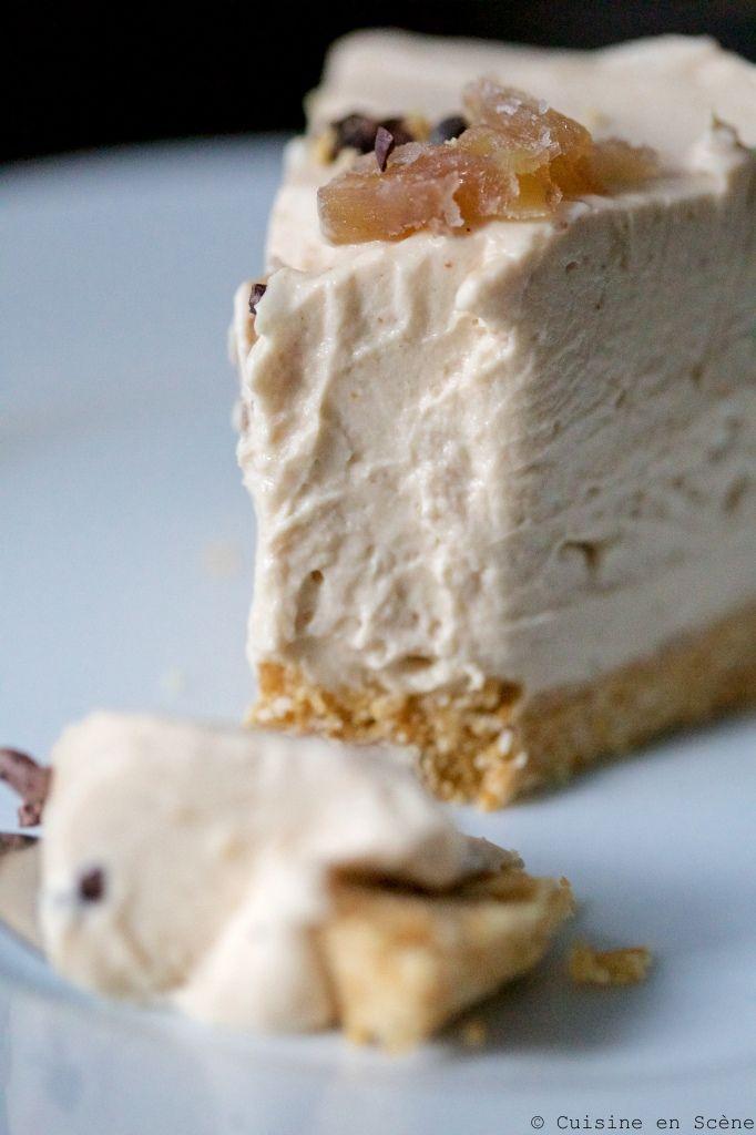 Cheesecake sans cuisson à la crème de marrons