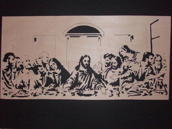 Scroll Saw Woodwork  The Last Supper by DorvalDesigns on Etsy