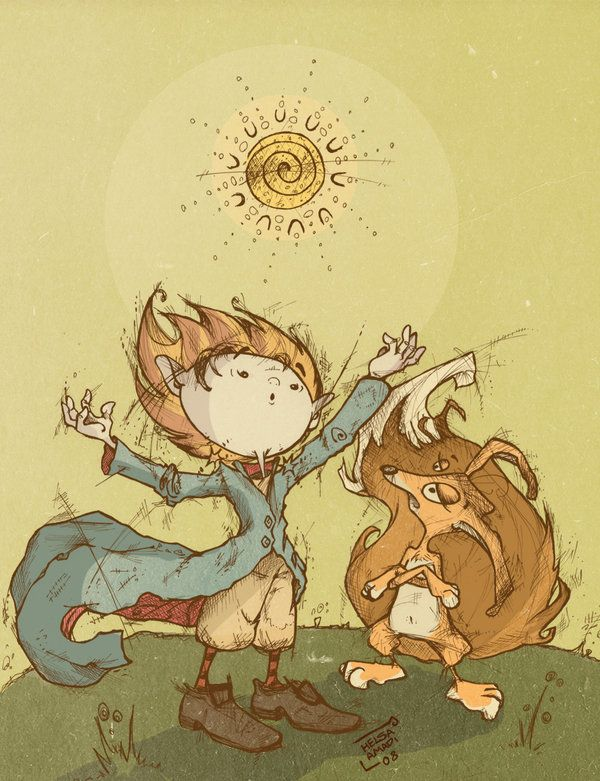 """a wonderful drawing of """"Le Petit Prince"""""""