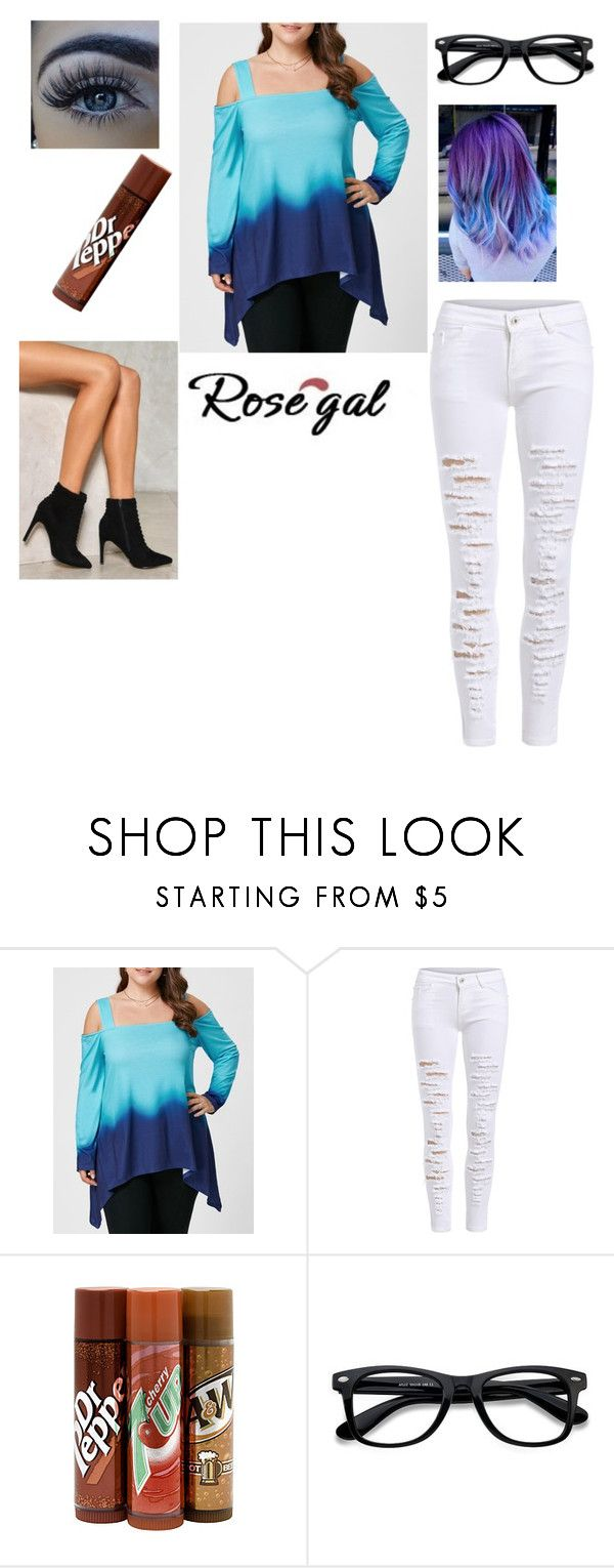 """Untitled #944"" by abby-white-2 ❤ liked on Polyvore featuring Bonne Bell, EyeBuyDirect.com and Nasty Gal"