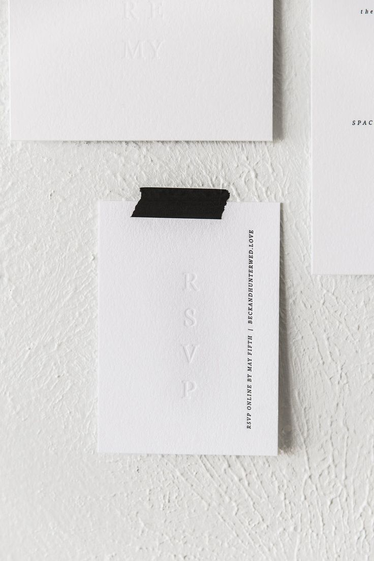 Modern + minimal letterpress wedding invitation with blind impression BRYLOwed.com | Photo: Lucky Malone
