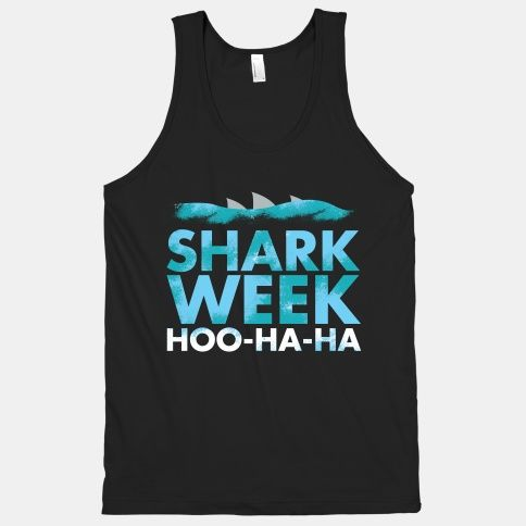 Get your shark week swag on with this sea creature loving shirt.