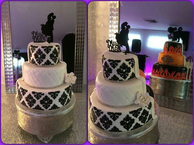 Gâteau de mariage : Harley  Davidson