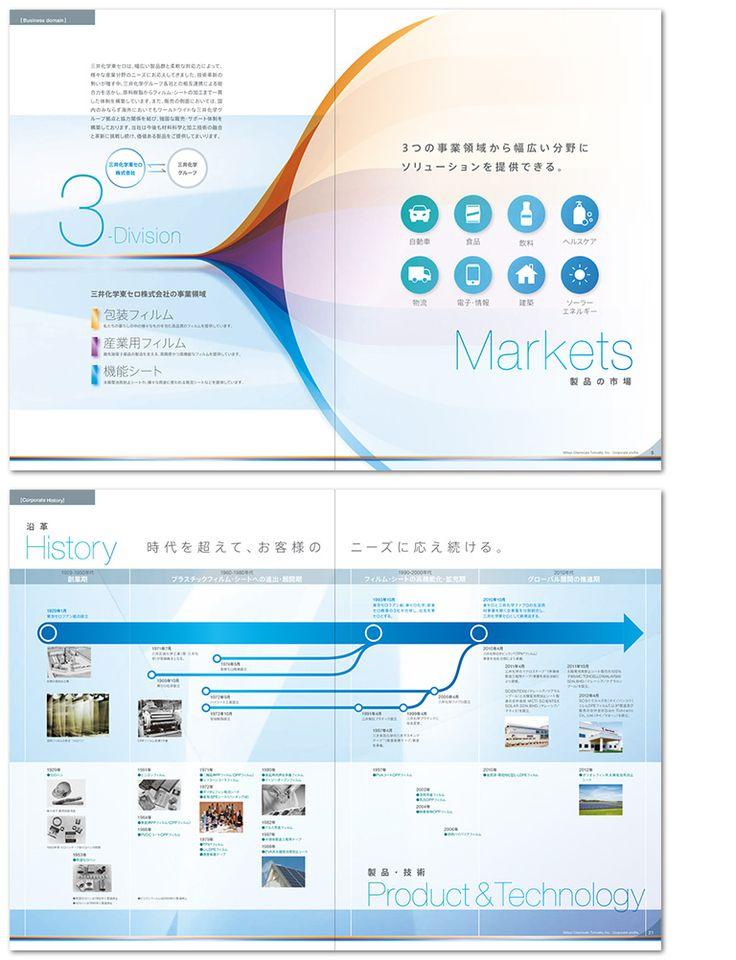ケミカル製品製造会社の会社案内パンフレット