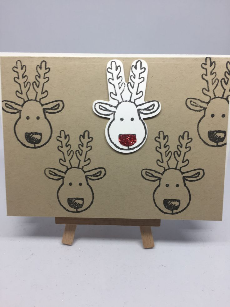 Hallöchen, heute habe ich eine Weihnachtskarte mit Rudolf, dem Rentier mit der roten Nase, für euch. Diese Karte werde ich am 23.11.16 um 19:30 Uhr bei einem kostenlosen SU! Kennenlern-Weihnachtswo…