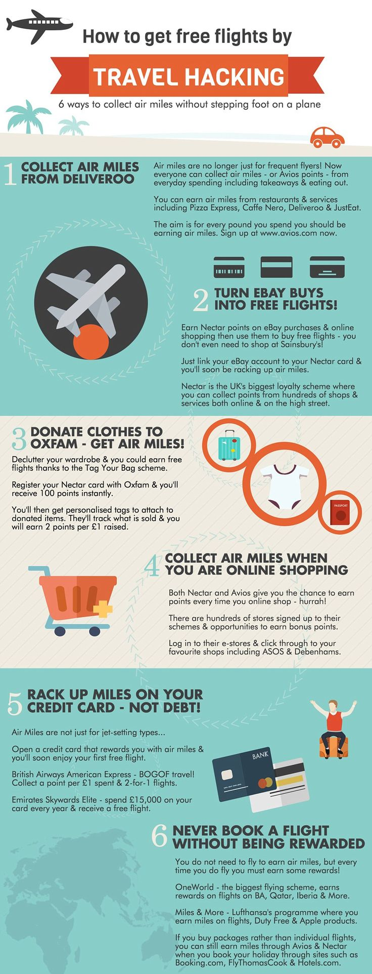 This infographic, complied by MagicFreebiesUK, outlines other ways you can score air miles...