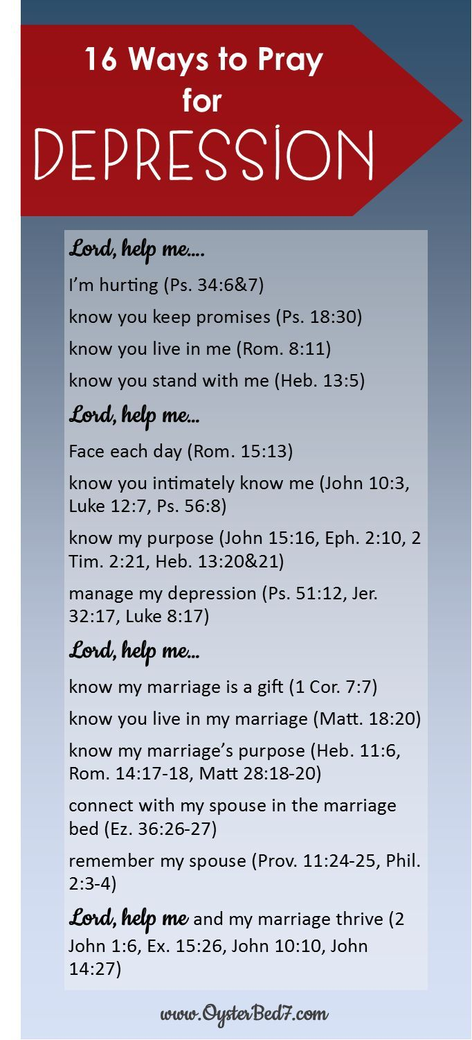 Depression. Marriage isn't one that I need to work on right now but good to he prepared just in case.
