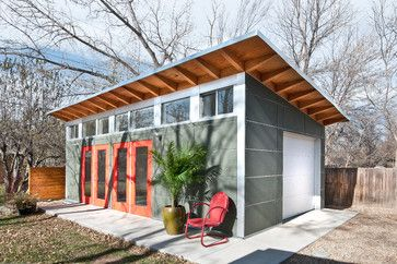 Backyard Artist Studio - contemporary - garage and shed - other metro - Green Home Base Solutions, Inc