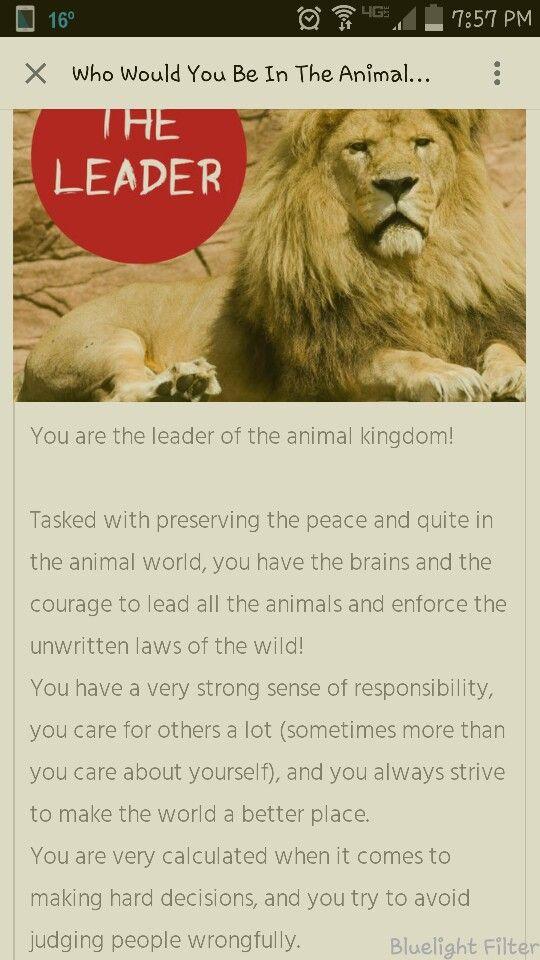 Leader of the animal kingdom