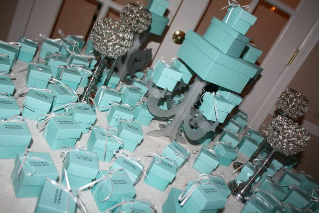 Damask And Tiffany Blue Bridal Wedding Shower Party Ideas