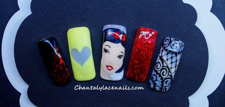 Snow White/Nail Art/Disney Princess nail art