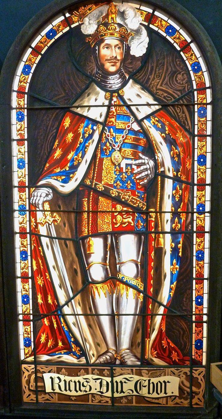 Richard, Duke of York | St Mary-Le-Bow - Durham Heritage Centre & Museum. | The Nevilles of Brancepeth and Raby were once one of the richest and most powerful dynasties in England. Kings Edward IV, Edward V and Richard III were all members of the family. Our display comprises four back-lit stained glass windows featuring members of the Neville family. Made in 1824 by William Collins, they were recently conserved by Jonathan & Ruth Cooke Ltd of Ilkley. The Nevilles of Brancepeth and...