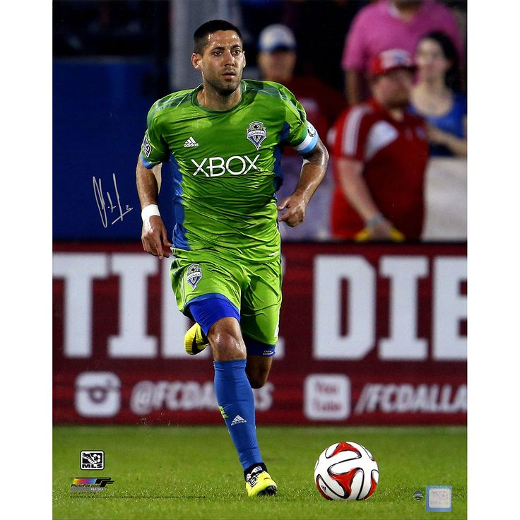 Clint Dempsey Signed Seattle Sounders Sprinting 16x20 Photo