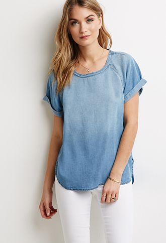 Luxe-Looking Spring Pieces From Forever 21 | theglitterguide.com...Denim Wash Tunic ($19.90)