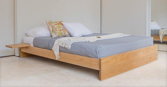 Enkel Platform Wooden Bed Frame No Headboard By Get Laid Etsy