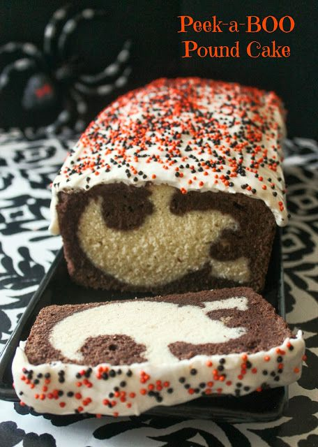 Peek-a-BOO Halloween Pound Cake