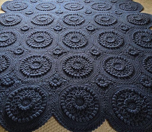 Pattern from ravelry Versailles matelassé afghan