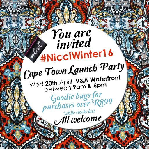 #NicciWinter16 launch #CapeTown