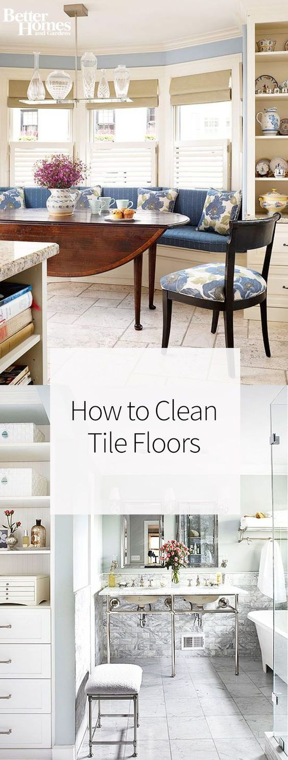 We're sharing the best way to clean tile floors whether you're working in small spaces, like a bathroom, or large spaces, like a kitchen. When residue settles deep into grout, cleaning tile can be difficult, but we're sharing our secrets to removing stains in the easiest way possible.