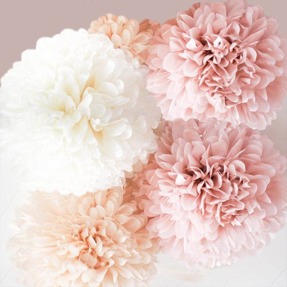 Blush Pink Champagne Burgundy Gray Tissue Paper Poms Etsy In 2020 Tissue Paper Pom Poms Paper Pom Poms Paper Flowers