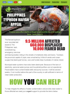 Philippines Typhoon Haiyan Appeal