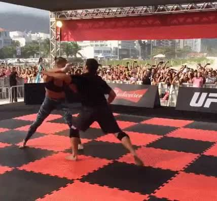 Watch this Ronda Rousey video, holy fuck..