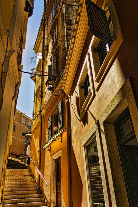 "Alleyways & Walkways (Kerkyra) Won  ""Absolute Masterpiece"" x 2 ""Superb Compostion""  x1 awards. Sept 2013 Viewbug"