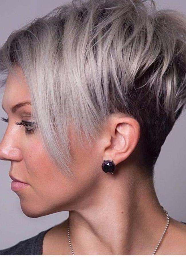 Wie wilt er niet z.on super ultra modern kapsel!! 15x super foto,s van grijs haar geselecteerd speciaal voor jou! - Korte Kapsels