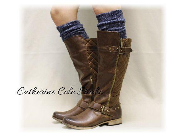 Boot socks ALPINE ADORE Vintage Blues tall by LaceBootSocksbyCCole