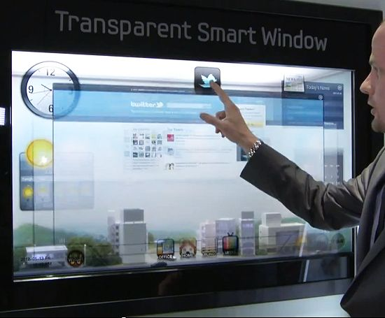 Smart windows: tablet-like surface for every window in your home. (via Dvice)
