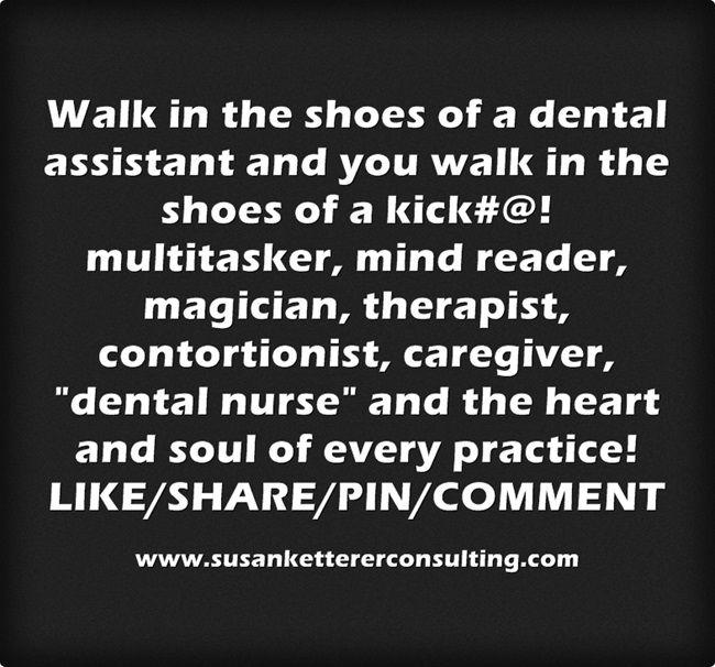 #DentalAssistants! Glue of the dental office!  AMEN!!!