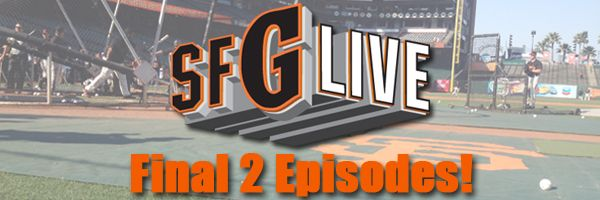 Watch our final two SFGLive shows of the season! Join us Tuesday, September 24 and Friday, September 27 at 4:45 p.m., exclusively on sfgiants.com. We will break down the match ups with the Dodgers and Padres, review the season and help do our part to vote Duane Kuiper on to the Hall of Fame's ballot for the Ford C. Frick Award! And don't forget to follow us on twitter @SFG_Live for the latest news on everything #SFGLive!