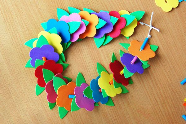 Flower Lei | Kids' Crafts | Fun Craft Ideas | Firs…