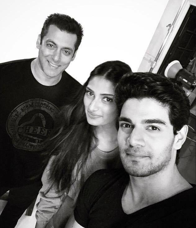 Salman Khan with the #Hero team