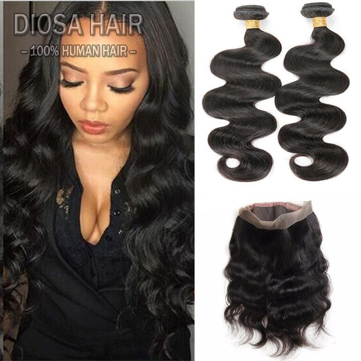Find More Human Hair Weft with Closure Information about 360 lace frontal  with bundles Pre Plucked